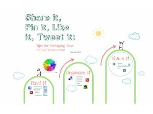 Share it, Pin it, Like it, Tweet it:. Prezi on managing your social media.