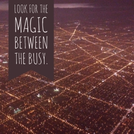Magic between the busy