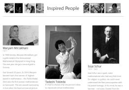 Inspired Mathematicians I MathPickle