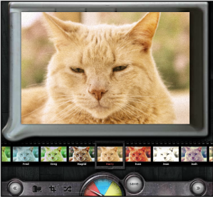 Add filters, Frames, and Effects with Pixlr-omatic.