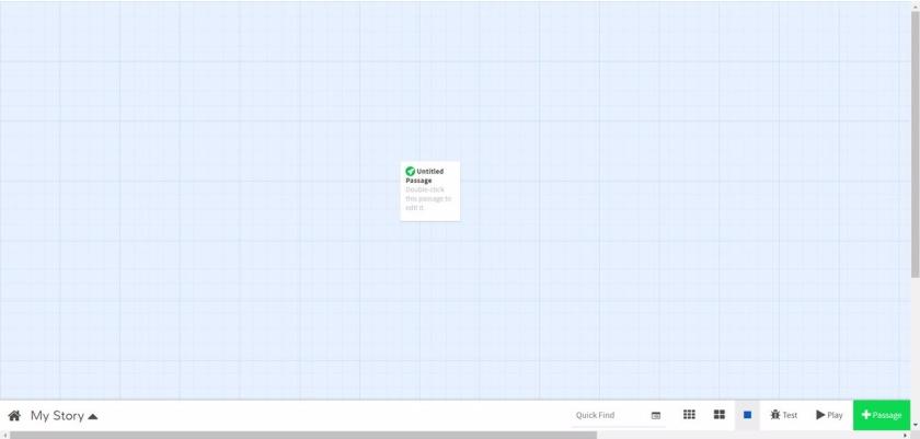 Twine Start Screen