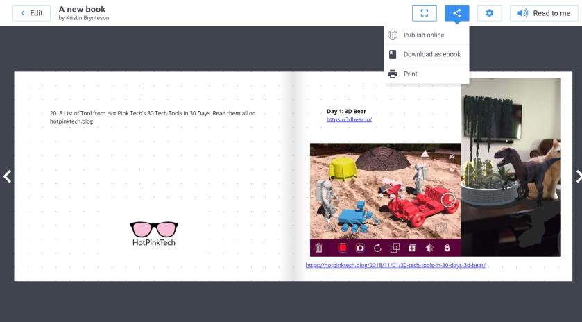 Book Creator for Google Chrome – Hot Pink Tech