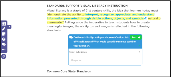 Common Core in Action 10 Visual Literacy Strategies Edutopia