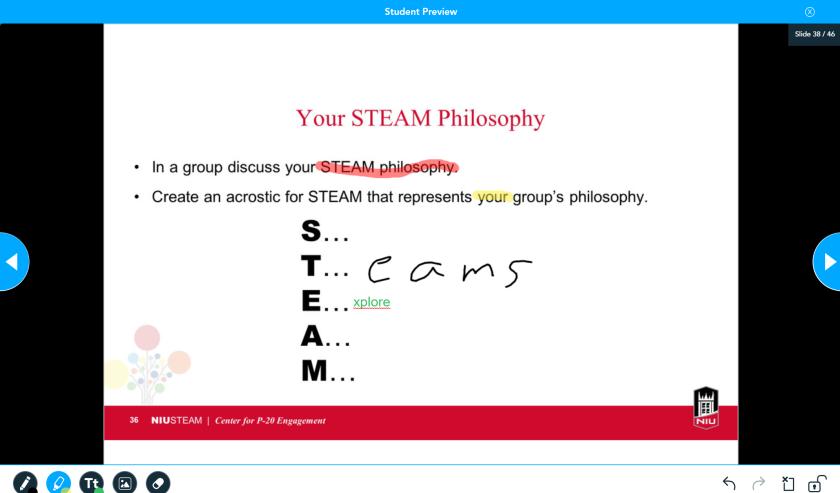 A Draw It slide from my Nearpod presentation.