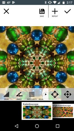 Edit screen on Mirror Lab