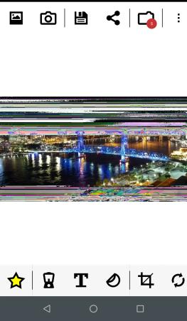 8Bit Photo Lab editing screen.