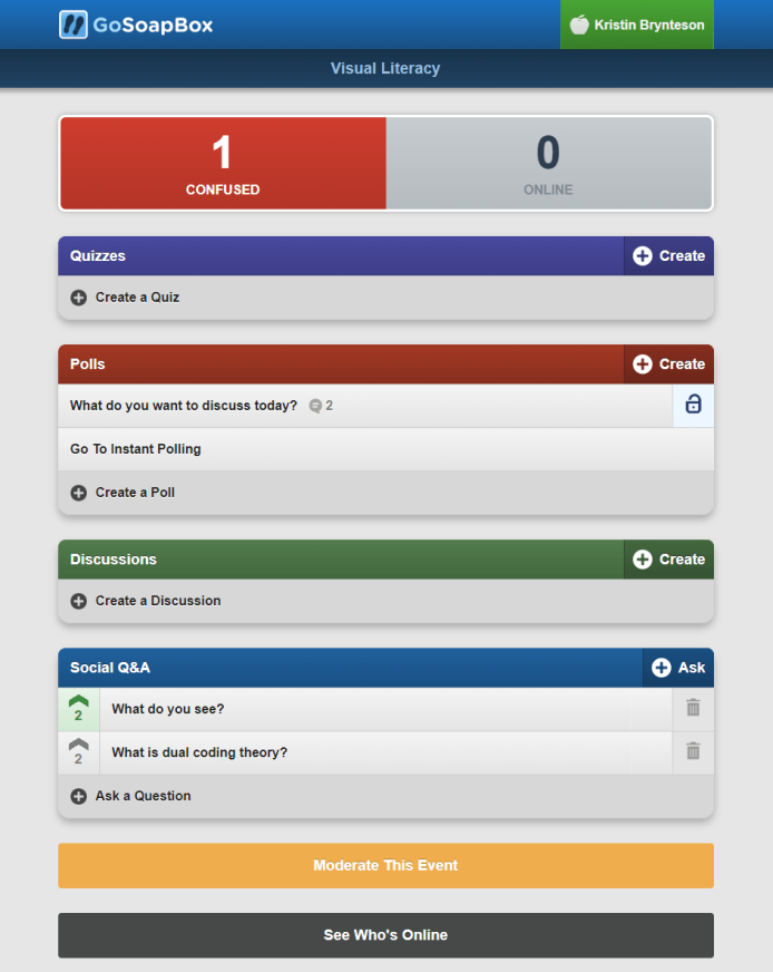 GoSoapBox Event Dashboard
